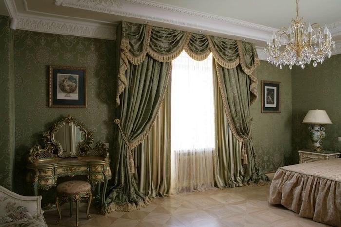 Ламбрекен для штор в классическом стиле