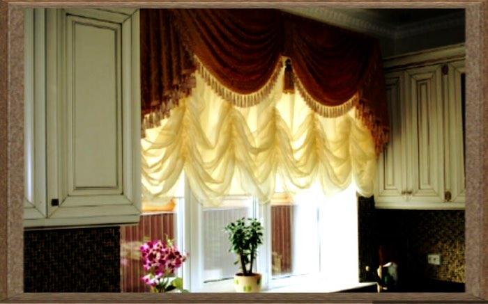 Почему французские шторы на кухню - это отличный вариант