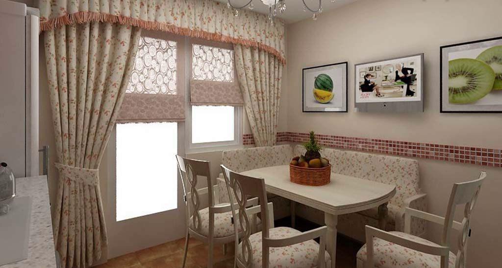 Какие виды штор подойдут на кухню под стиль Прованс
