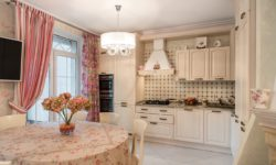 Шторы на кухню в стиле Прованс
