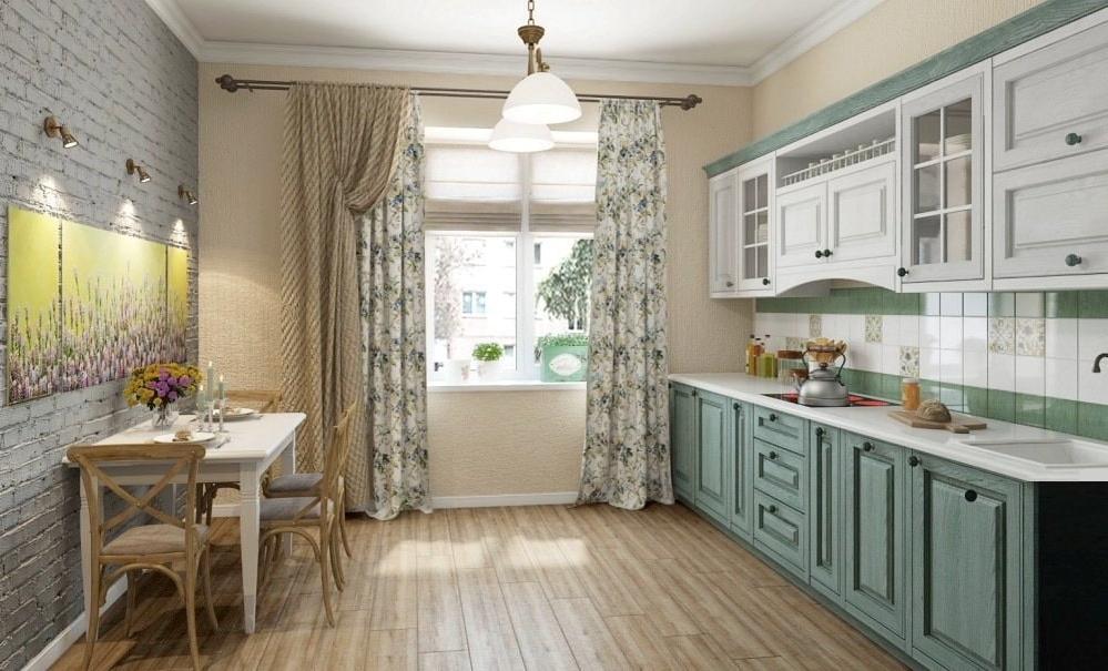 Заказать шторы на кухню в стиле Прованс