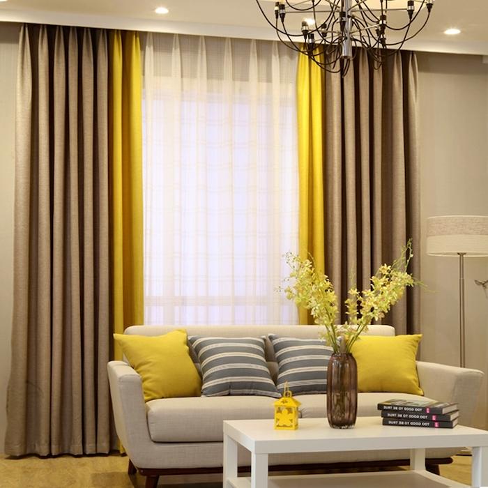 Цвета для дизайнерских штор в гостиную
