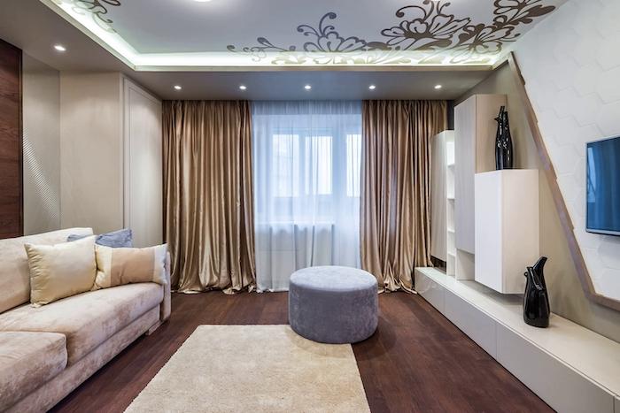 Популярные дизайнерские шторы для гостиной