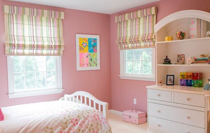 Римские шторы в детскую комнату девочке