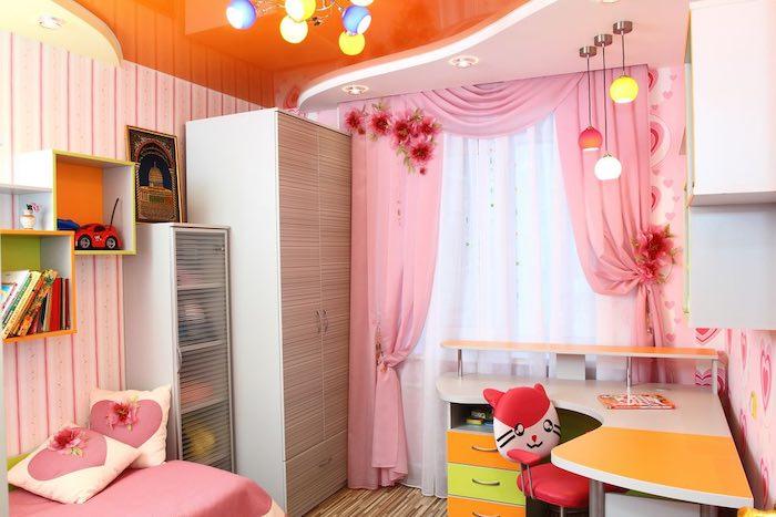 Шторы для детской комнаты девочек: особенности