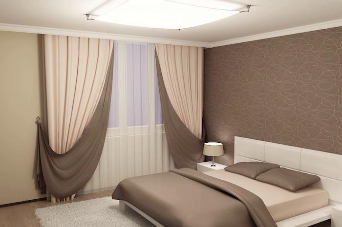 Шторы в спальню в современном стиле