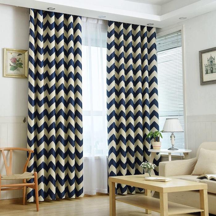 Ткани, принты и цвета штор в современном стил