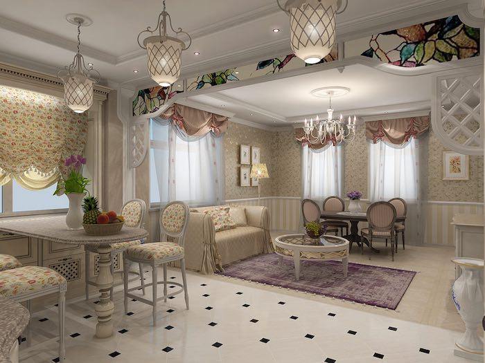 дизайн штор для загородного дома