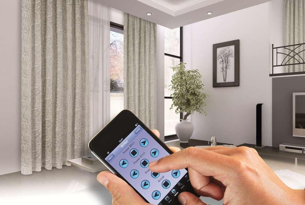 электрокарнизы для штор управление с телефона