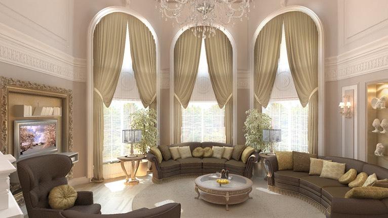 Где заказать шторы в Подмосковье на арочные окна