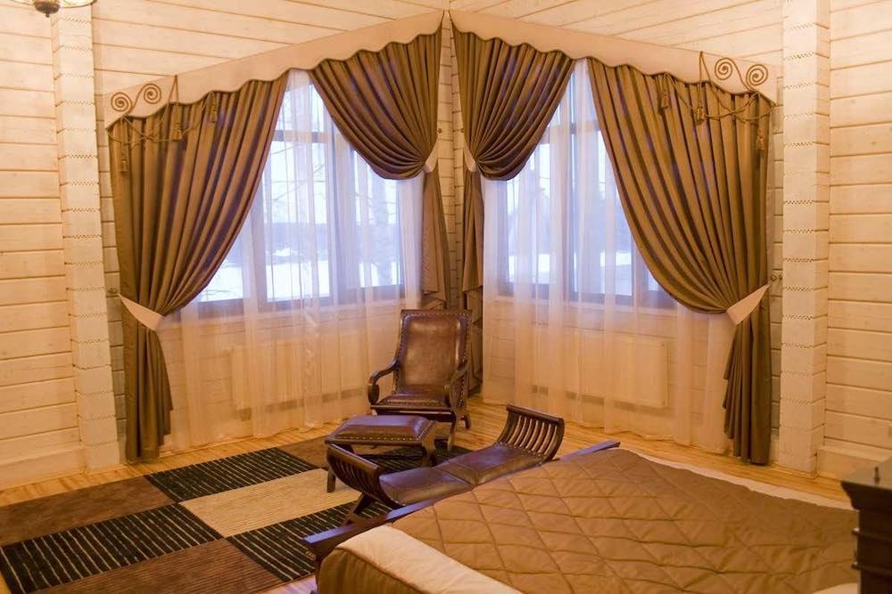 Пошив штор в гостевой дом