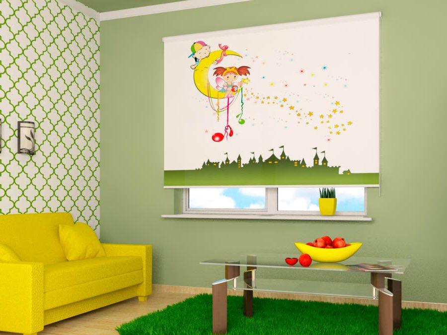 Римские шторы для детской комнаты с фотопечатью
