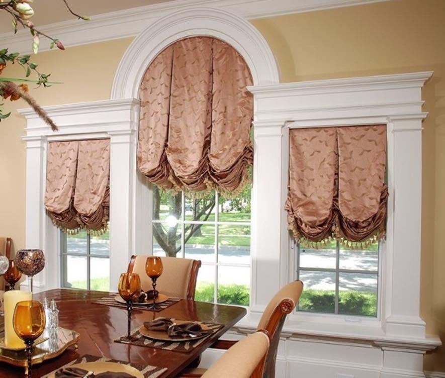 романский стиль в интерьере и римские шторы