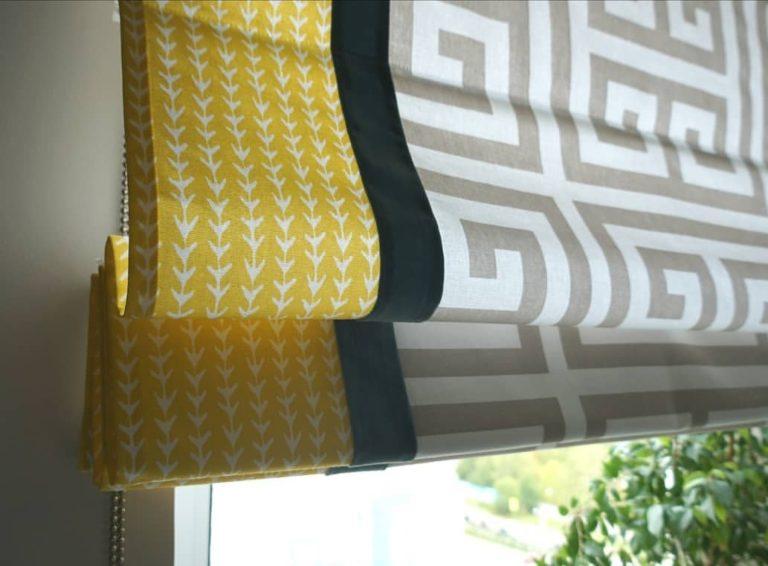 Фото римской шторы со вставками
