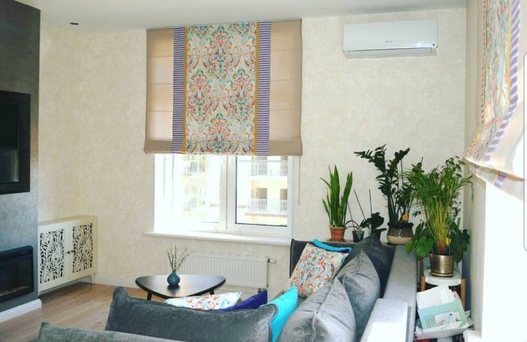 сшить римские шторы для кухни