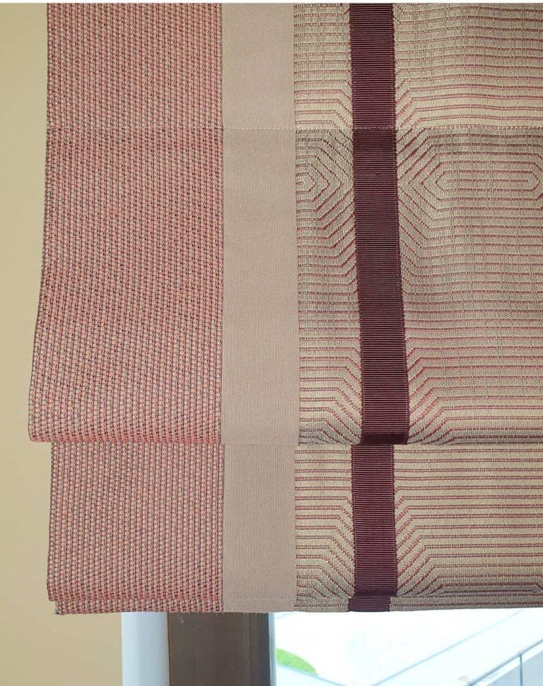 пошив римских штор на пластиковые окна в студии Garcia Design в Новой Риге