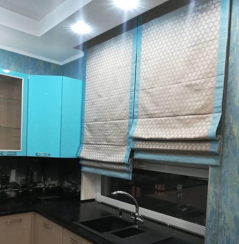 пошив римских штор в москве для кухни