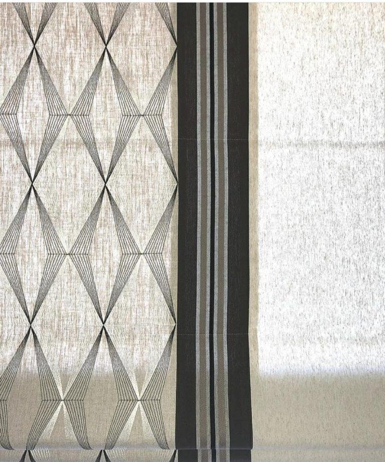 пошив современных римских штор в студии Garcia Design в Новой Риге