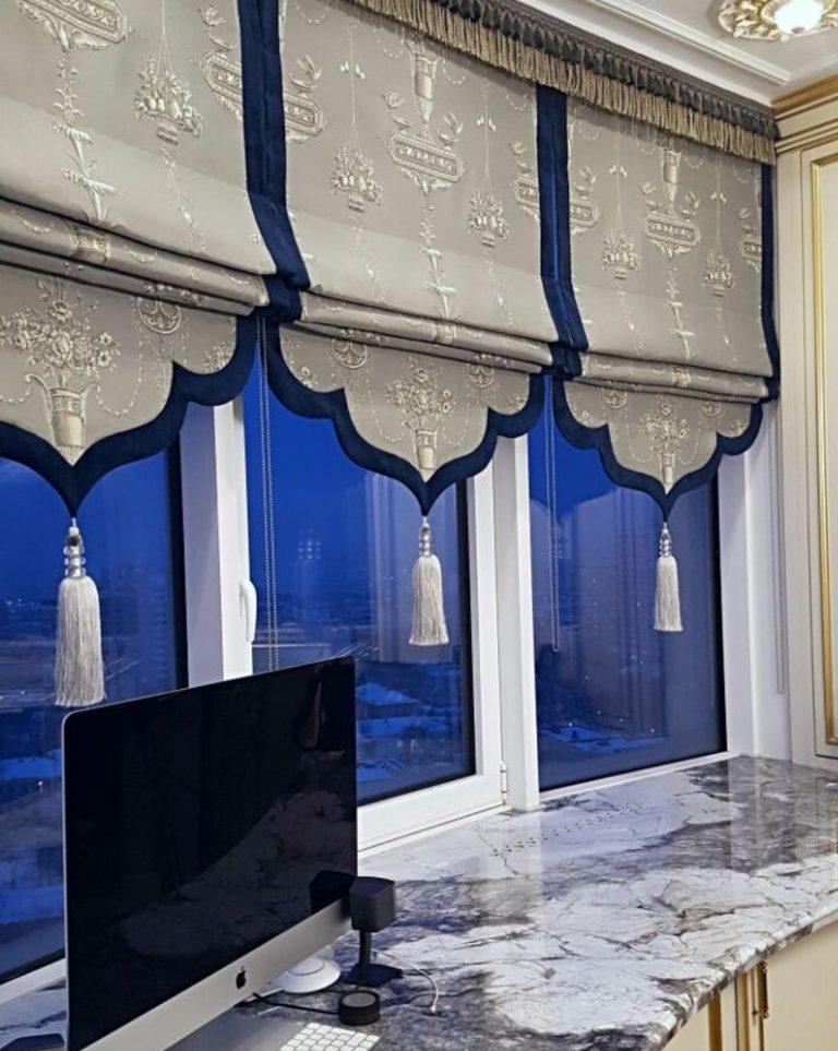 современная красивая римская штора на закааз