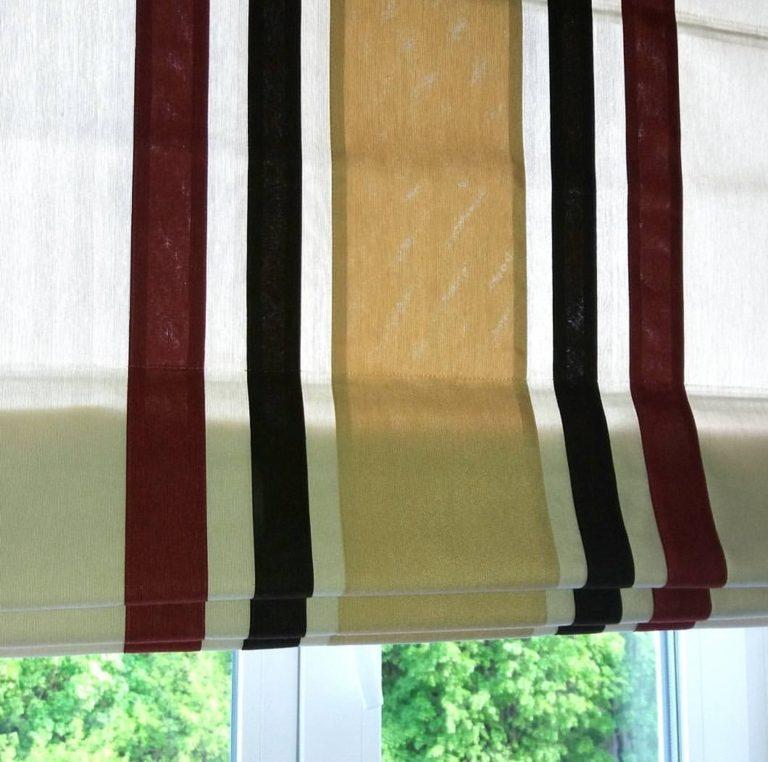 современные римские шторы со вставками в москве